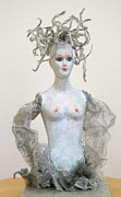Evil Sculpture Prints - Medusa Print by Ruth Edward Anderson