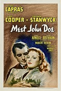 Meet John Doe, Poster Art, Gary Cooper Print by Everett