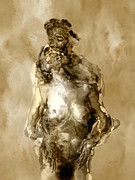 Nudes Digital Art Metal Prints - Melt Metal Print by Kurt Van Wagner