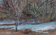 Snow Pastels Prints - Melting Snow Print by Donald Maier