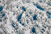 Hubbard Prints - Meltwater Lakes On Hubbard Glacier Print by Matthias Breiter