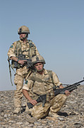 Foot Patrol Photos - Members Of The British Army On Foot by Andrew Chittock