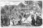 Cypress Hills Framed Prints - Memorial Day, 1868 Framed Print by Granger