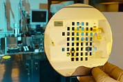 Mems Production, Machined Silicon Wafer Print by Colin Cuthbert