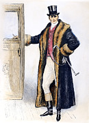 Overcoat Framed Prints - Mens Fashion, 1894 Framed Print by Granger
