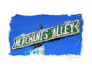 Street Sign Digital Art Posters - Merchants Alley Poster by Geoff Strehlow