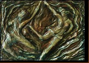 Bronze Reliefs Prints - Merge Print by Dawn Fisher
