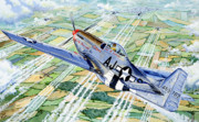 Plane Drawings Prints - Merle Maureen Print by Charles Taylor