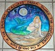 Extinct And Mythical Pyrography - Mermaid Lazy Susan by Mickie Boothroyd