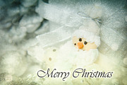 Sparkling Prints - Merry Christmas Print by Angela Doelling AD DESIGN Photo and PhotoArt
