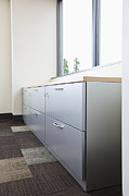 Office Space Prints - Metal Drawers and Shelf Print by Jetta Productions, Inc