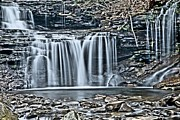 Pa State Parks Photos - Metallic Falls by Adam Jewell