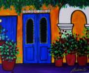 Flower Paintings - Mexican Door by Pristine Cartera Turkus