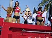 Miami Heat Photo Prints - Miami Heat Sheerleaders. Calle Ocho Parade Print by Maite Toledo
