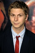 Premiere Metal Prints - Michael Cera At Arrivals For Premiere Metal Print by Everett