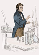 Colourized Framed Prints - Michael Faraday, English Physicist Framed Print by Science Source