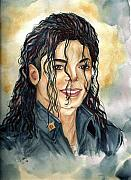 Michael Jackson Paintings - Michael Jackson - A Portrait by Nicole Wang