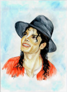 Mj Painting Prints - Michael Jackson - Keep The Faith Print by Nicole Wang