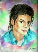 Mj Painting Prints - Michael Jackson - The Way You Make Me Feel Print by Nicole Wang