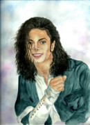 Mj Painting Prints - Michael Jackson - Will You Be There Print by Nicole Wang