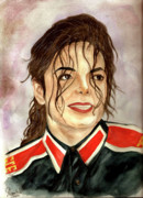 Michael Jackson Prints - Michael Jackson - You Are My Life Print by Nicole Wang