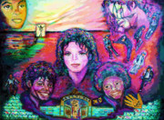 Jackson Five Framed Prints - Michael Jackson 4-Everland Framed Print by Regina Brandt