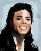 King Of Pop Digital Art - Michael Jackson by Alicia Mullins