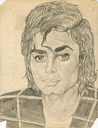 Jackson 5 Drawings - Michael Jackson by Allen Walters