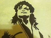 Mj Drawings - Michael Jackson by Damian Howell