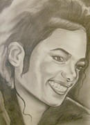 Michael Drawings Framed Prints - Michael Jackson Framed Print by Terrence ONeal