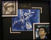 Matting Mixed Media - Michael Jackson The King of Pop by Angela Hannah