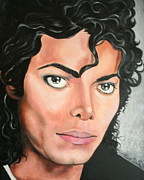 Portraits By Timothe Framed Prints - Michael Jackson Framed Print by Timothe Winstead
