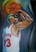 Ideas Paintings - Michael Jordan by Mikayla Henderson