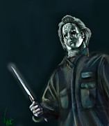 Horror Digital Art - Michael Myers by Vinny John
