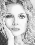 Michelle Pfeiffer Framed Prints - Michelle Pfeiffer Framed Print by Alexandra Riley