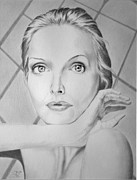 Actress Drawings Framed Prints - Michelle Framed Print by Robert Ball