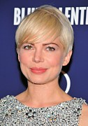 Natural Makeup Posters - Michelle Williams At Arrivals For Blue Poster by Everett