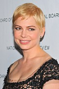 Diamond Earrings Posters - Michelle Williams At Arrivals For The Poster by Everett