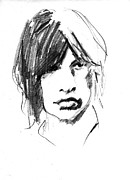 Mick Jagger Drawings - Mick by David Ritsema
