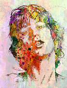 The Boss Prints - Mick Jagger Print by Mark Ashkenazi