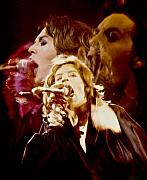 Mick Jagger Metal Prints - Mick Trio Metal Print by Sandy Ostroff