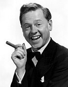 Smoking Book Framed Prints - Mickey Rooney Framed Print by Everett