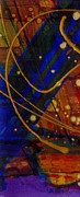 Outer Space Painting Posters - Mickeys Triptych - Cosmos I Poster by Angela L Walker