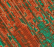 Circuitry Photos - Microchip Circuitry, Sem by Power And Syred