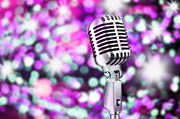 Studio Lighting Prints - Microphone Print by Setsiri Silapasuwanchai