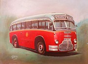 Coach Paintings - Midland Red C1 by Mike  Jeffries