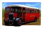 1930s Paintings - Midland Red SON by Mike  Jeffries