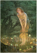 Midsummer Framed Prints - Midsummer Eve Framed Print by Edward Robert Hughes
