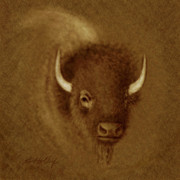 Holdorf Framed Prints - Mighty Buffalo Framed Print by Kurt Holdorf