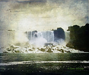 Digital_art Posters - Mighty Niagara Poster by Lianne Schneider